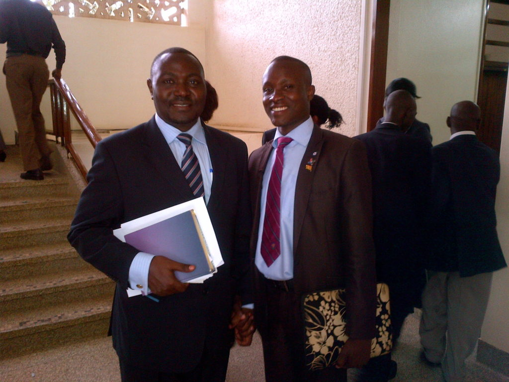 The Vice chairperson Parliamentary Education Committee (Left) and Hon. Emmanuel Wabwire